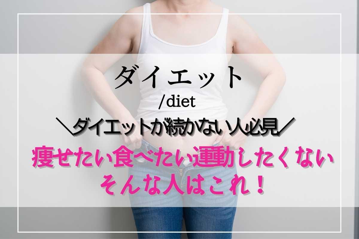 痩せたい食べたい運動したくない!おすすめダイエット方法3選 ちょっとした工夫で行動を変える